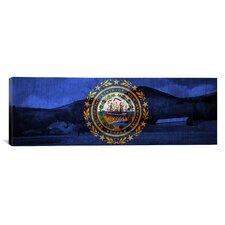 Flags New Hampshire Mount Wonalancet Farm Panoramic Graphic Art on Canvas