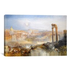 'Modern Rome, Campo Vaccino' Painting Print on Canvas by Jospeh William Turner