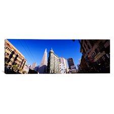 Panoramic Columbus Avenue, San Francisco, California Photographic Print on Canvas