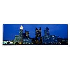 Panoramic Columbus, Ohio Photographic Print on Canvas