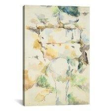 'Rochers Pres Des Grottes Au-Dessus De Chateau Noir (Rochers A Bibemus) 1895-1900' by Paul Cezanne Painting Print on Canvas