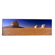Panoramic 'Rock Formations' Photographic Print on Canvas