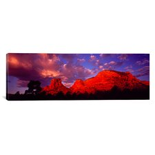 Panoramic Rocks at Sunset Sedona, Arizona Photographic Print on Canvas