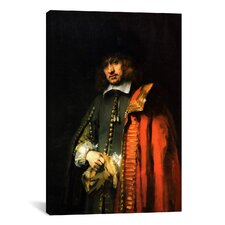 'Portrait of Jan Six 1654' by Rembrandt Painting Print on Canvas