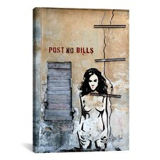 "Luz Graphics ""Post No Bills"" Graphic Art on Canvas"