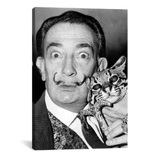 'Portrait of Salvador Dali' by Roger Higgins Photographic Print on Canvas