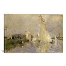 Regatta at Argenteuil 1874 by Pierre-Auguste Renoir Painting Print on Canvas