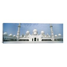 Panoramic 'Sheikh Zayed Mosque, Abu Dhabi, United Arab Emirates' Photographic Print on Canvas