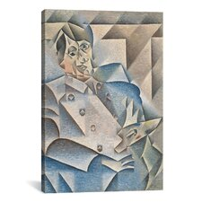 'Portrait of Pablo Picasso' by Juan Gris Painting Print on Canvas