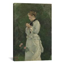 'Portrait of a Lady 1875' by Winslow Homer Painting Print on Canvas