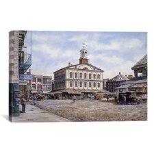 'Faneuil Hall, 1915, California' by Stanton Manolakas Painting Print on Canvas