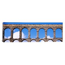 Panoramic 'Roman Aqueduct, Segovia, Spain' Photographic Print on Canvas