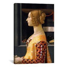 'Portrait of Giovanna Tornabuoni' by Domenico Ghirlanaio Painting Print on Canvas