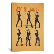 Move Like Jagger by Maximilian San Graphic Art on Canvas in White