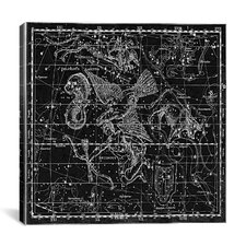 Celestial Atlas - Plate 10 (Aquila and Antinous) by Alexander Jamieson Photographic Print on Canvas in Black