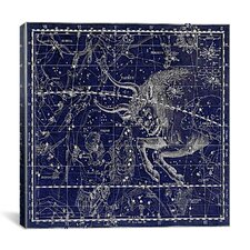 Celestial Atlas - Plate 14 (Taurus) by Alexander Jamieson Graphic Art on Canvas in Blue