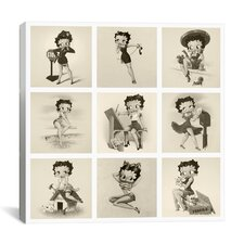 The Many Faces of Betty Boop Graphic Art on Canvas in Black / White