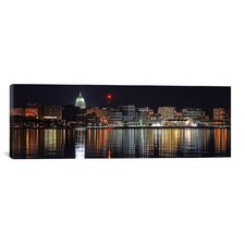 Panoramic Madison Skyline Cityscape Photographic Print on Canvas in Multi-color