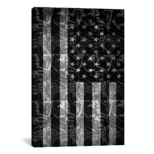 Pat Donnelly Miss America Flag Graphic Art on Canvas in Black/White