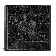 Celestial Atlas - Plate 13 (Aries, Musca Borealis) by Alexander Jamieson Graphic Art on Canvas in Black