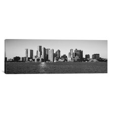 Boston Panoramic Skyline Cityscape Photographic Print on Canvas in Black/White