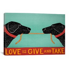 Love Is by Stephen Huneck Graphic Art on Canvas in Black