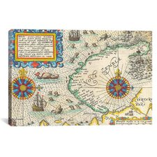 Antique Maps of Nova Zembla and The Northeast Passage (1601) by Datoteca Graphic Art on Canvas