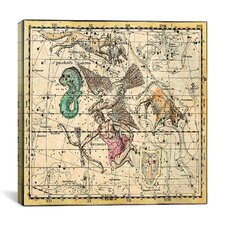 Celestial Atlas - Plate 10 (Aquila and Antinous) by Alexander Jamieson Graphic Art on Canvas in Beige