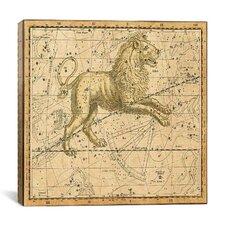 Celestial Atlas - Plate 17 (Leo) by Alexander Jamieson Graphic Art on Canvas in Beige