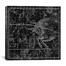 Celestial Atlas - Plate 14 (Taurus) by Alexander Jamieson Graphic Art on Canvas in Black