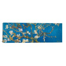 Almond Blossom by Vincent Van Gogh Painting Print on Canvas in Blue