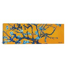 Almond Blossom by Vincent Van Gogh Painting Print on Canvas in Orange