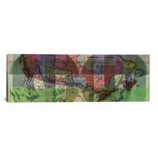 The Dominion of Canada Vintage Map Panoramic 3 Graphic Art on Canvas