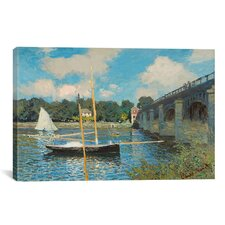 'The Bridge at Argenteuil' by Claude Monet Painting Print on Canvas