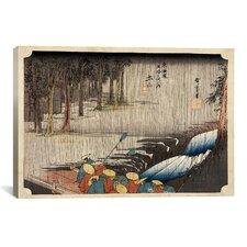 """""""Spring Rain at Tsuchiyama"""" Canvas Wall Art by Utagawa Hiroshige l"""