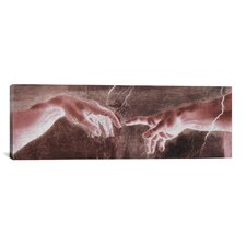 'The Creation of Adam VI Panoramic' by Michelangelo Painting Print on Canvas