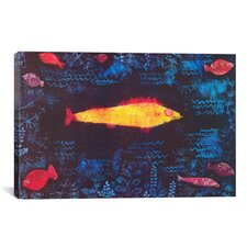 'The Golden Fish' by Paul Klee Painting Print on Canvas