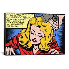 Roy Lichtenstein Slumped to the Floor Graphic Art on Canvas in Blonde