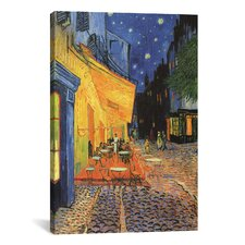 'The Cafe Terrace on the Place du Forum, Arles, at Night 1888' by Vincent Van Gogh Painting Print on Canvas