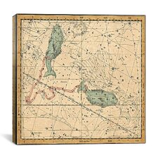 Celestial Atlas - Plate 22 (Pisces) by Alexander Jamieson Graphic Art on Canvas in Beige