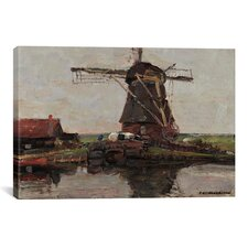 """Stammer Mill with Streaked Sky, 1906"" Canvas Wall Art by Piet Mondrian"