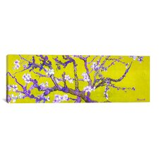 Almond Blossom by Vincent Van Gogh Painting Print on Canvas in Yellow