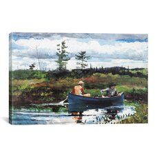 'The Blue Boat 1892' by Winslow Homer Painting Print on Canvas