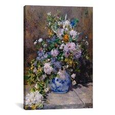 """Spring Bouque (Grande Vaso Di Fiori)"" by Pierre-Auguste Renoir Canvas Painting Print"