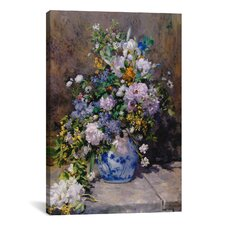 'Spring Bouque (Grande Vaso Di Fiori)' by Pierre-Auguste Renoir Painting Print on Canvas
