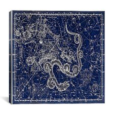 Celestial Atlas - Plate 2 (Ursa Minor) by Alexander Jamieson Graphic Art on Canvas in Blue