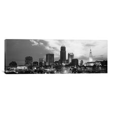 Cleveland Panoramic Skyline Cityscape Photographic Print on Canvas in Black / White
