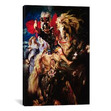 'St. George and the Dragon' by Peter Paul Rubens Painting Print on Canvas