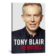 Political Tony Blair Book Cover Photographic Print on Canvas