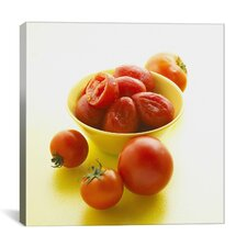 Tomatoes in Bowl Photographic Canvas Wall Art